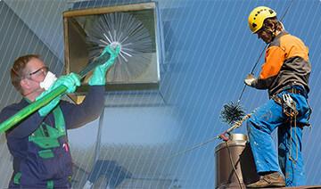 Очистка вентиляционных систем и  дымоходов любого уровня сложности