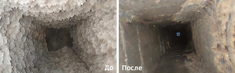 Очистка вентиляции до и после